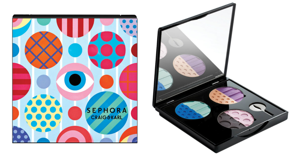 Sephora Craig & Karl Colorful Custom Eyeshadow Case